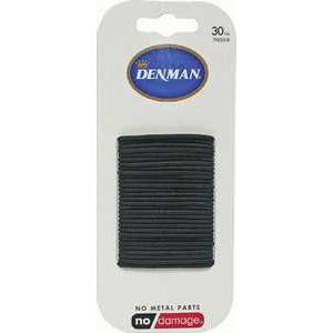 Denman Hair Ties - Black 2mm