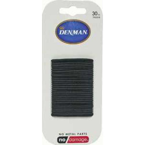 Denman Hair Ties - Black 2mm