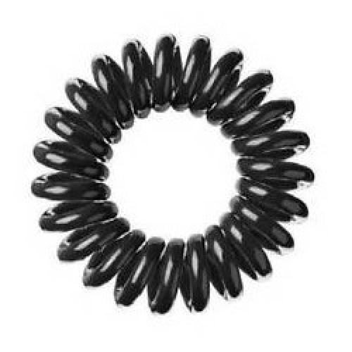 Spiral Hair Ties Small Black - 6 Pack