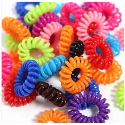 Spiral Hair Ties Small Coloured - 6 Pack